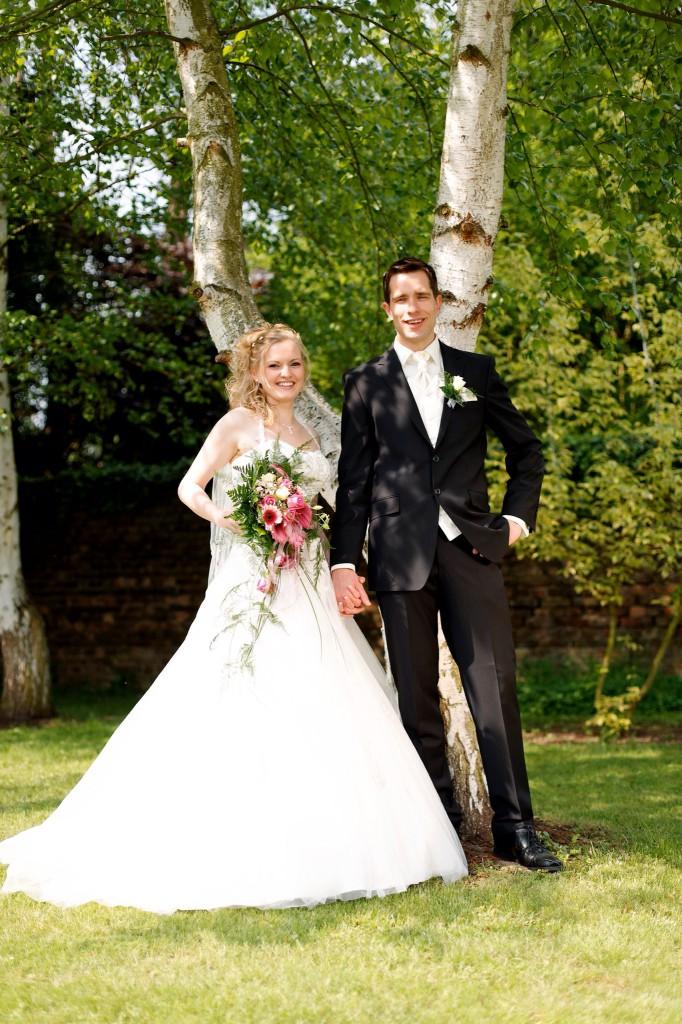 Auch der Bräutigam darf beim Shooting nicht zu kurz kommen.